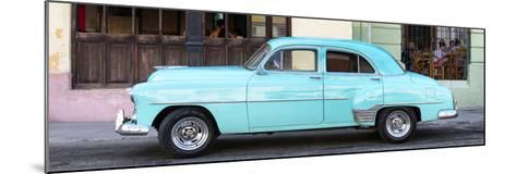 Cuba Fuerte Collection Panoramic - Havana Club and Blue Classic Car-Philippe Hugonnard-Mounted Photographic Print