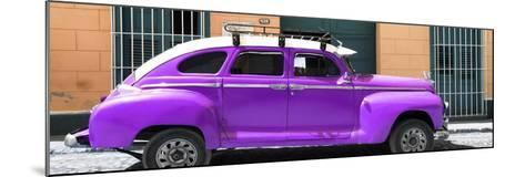 Cuba Fuerte Collection Panoramic - Purple Vintage Car-Philippe Hugonnard-Mounted Photographic Print