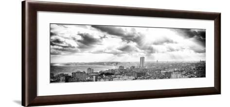 Cuba Fuerte Collection Panoramic BW - Rays of light on Havana-Philippe Hugonnard-Framed Art Print