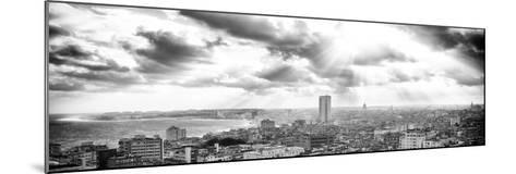 Cuba Fuerte Collection Panoramic BW - Rays of light on Havana-Philippe Hugonnard-Mounted Photographic Print