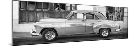 Cuba Fuerte Collection Panoramic BW - Havana Club and Classic Car-Philippe Hugonnard-Mounted Photographic Print