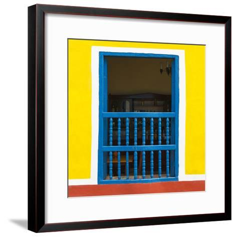 Cuba Fuerte Collection SQ - Colorful Window-Philippe Hugonnard-Framed Art Print
