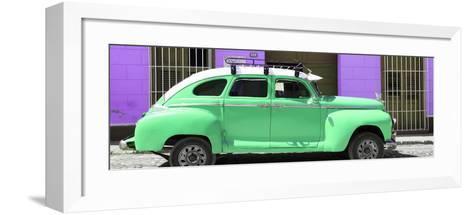 Cuba Fuerte Collection Panoramic - Green Vintage Car Trinidad-Philippe Hugonnard-Framed Art Print
