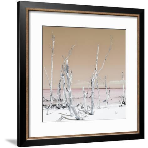 Cuba Fuerte Collection SQ - Ocean Wild Nature - Pastel Orange-Philippe Hugonnard-Framed Art Print