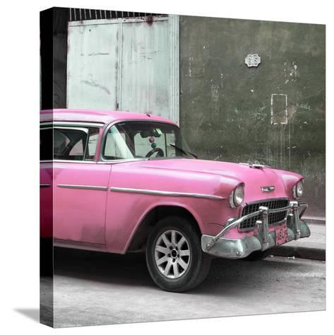 Cuba Fuerte Collection SQ - Pink Chevy-Philippe Hugonnard-Stretched Canvas Print