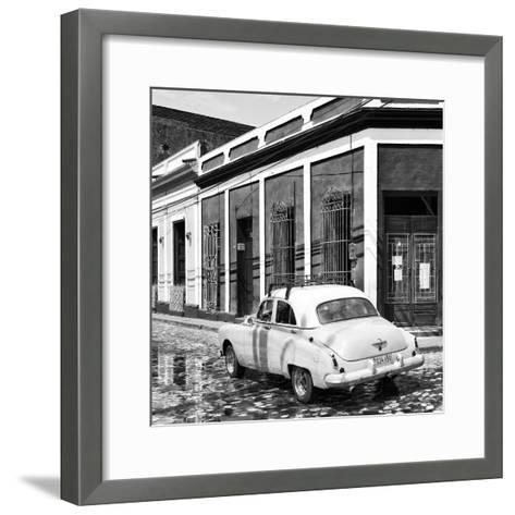 Cuba Fuerte Collection SQ BW - Cuban Street Scene III-Philippe Hugonnard-Framed Art Print