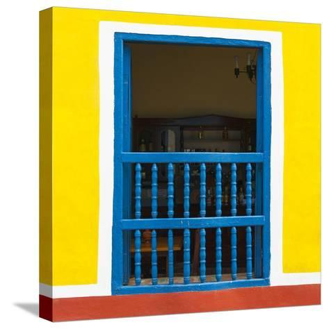 Cuba Fuerte Collection SQ - Colorful Window-Philippe Hugonnard-Stretched Canvas Print