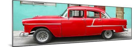 Cuba Fuerte Collection Panoramic - Classic American Red Car in Havana-Philippe Hugonnard-Mounted Photographic Print