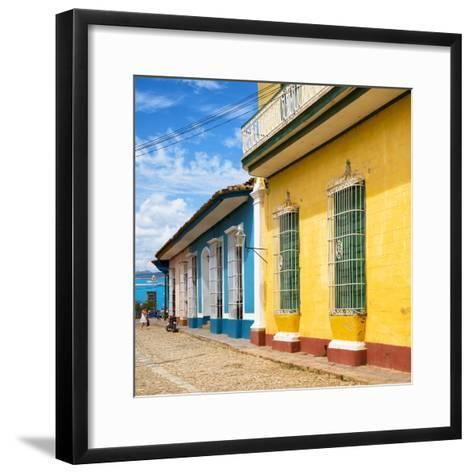 Cuba Fuerte Collection SQ - Colorful Facades in Trinidad-Philippe Hugonnard-Framed Art Print