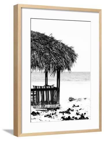 Cuba Fuerte Collection B&W - Quiet Beach II-Philippe Hugonnard-Framed Art Print