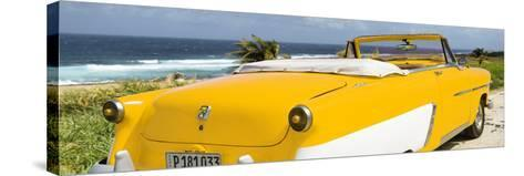 Cuba Fuerte Collection Panoramic - Yellow Cabriolet Classic Car-Philippe Hugonnard-Stretched Canvas Print