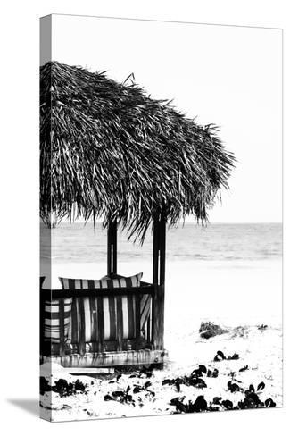 Cuba Fuerte Collection B&W - Quiet Beach II-Philippe Hugonnard-Stretched Canvas Print