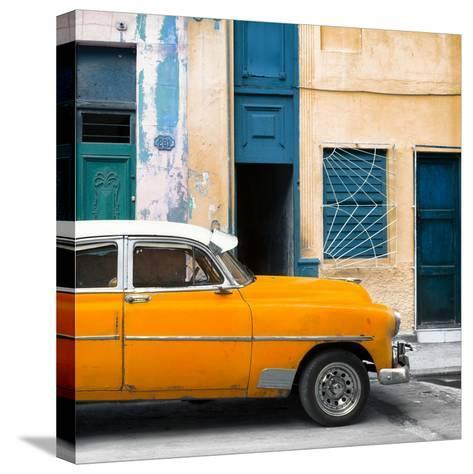 Cuba Fuerte Collection SQ - Havana's Orange Vintage Car-Philippe Hugonnard-Stretched Canvas Print