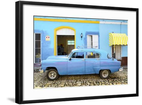 Cuba Fuerte Collection - Cuban Blue II-Philippe Hugonnard-Framed Art Print