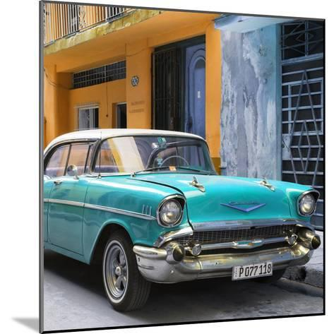 Cuba Fuerte Collection SQ - Turquoise Chevrolet Cuban-Philippe Hugonnard-Mounted Photographic Print