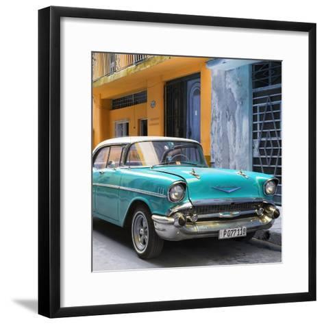 Cuba Fuerte Collection SQ - Turquoise Chevrolet Cuban-Philippe Hugonnard-Framed Art Print