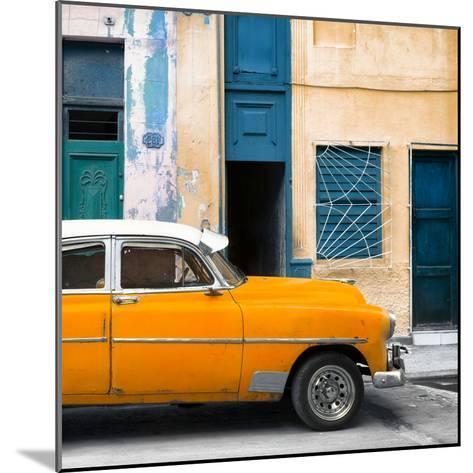 Cuba Fuerte Collection SQ - Havana's Orange Vintage Car-Philippe Hugonnard-Mounted Photographic Print