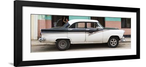Cuba Fuerte Collection Panoramic - American Classic Car in Havana-Philippe Hugonnard-Framed Art Print