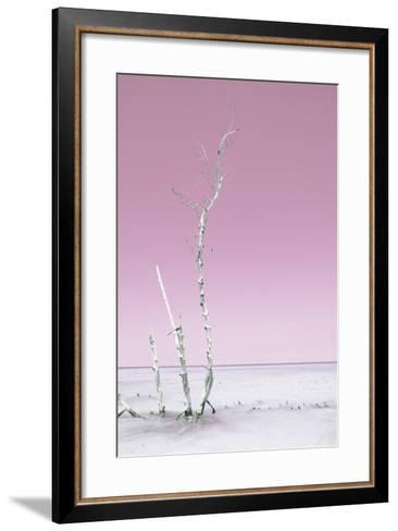Cuba Fuerte Collection - Ocean Nature - Pastel Pink-Philippe Hugonnard-Framed Art Print