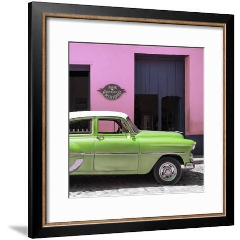 Cuba Fuerte Collection SQ - Retro Lime Green Car-Philippe Hugonnard-Framed Art Print