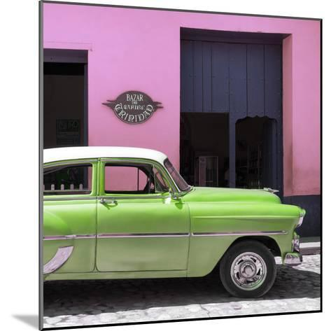 Cuba Fuerte Collection SQ - Retro Lime Green Car-Philippe Hugonnard-Mounted Photographic Print