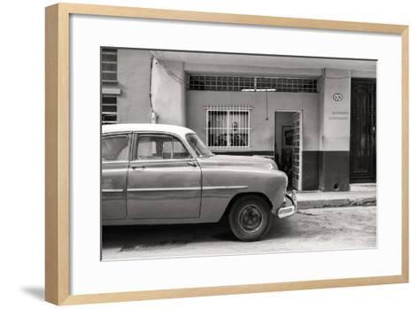 Cuba Fuerte Collection B&W - Vintage Classic American Car-Philippe Hugonnard-Framed Art Print