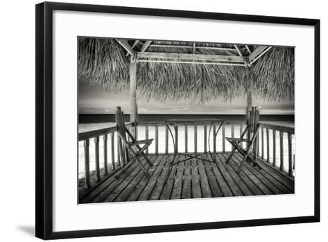 Cuba Fuerte Collection B&W - Ocean View-Philippe Hugonnard-Framed Art Print