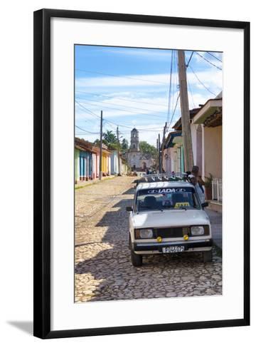 Cuba Fuerte Collection - Cuban Street Scene in Trinidad II-Philippe Hugonnard-Framed Art Print