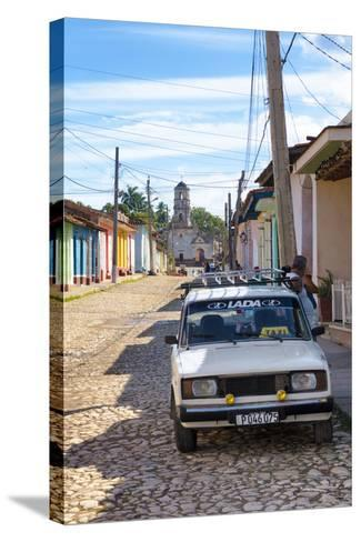 Cuba Fuerte Collection - Cuban Street Scene in Trinidad II-Philippe Hugonnard-Stretched Canvas Print