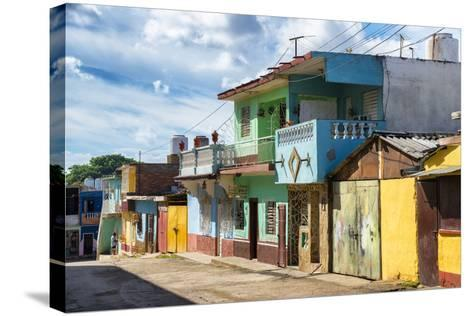 Cuba Fuerte Collection - Quiet Colorful Street-Philippe Hugonnard-Stretched Canvas Print