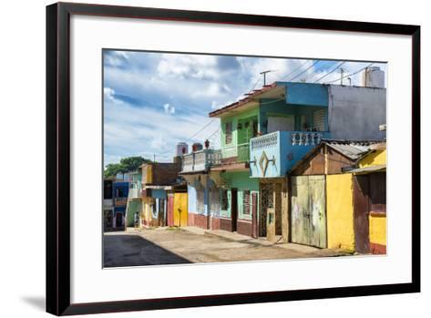 Cuba Fuerte Collection - Quiet Colorful Street-Philippe Hugonnard-Framed Art Print