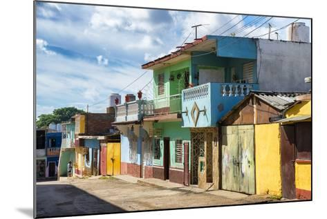 Cuba Fuerte Collection - Quiet Colorful Street-Philippe Hugonnard-Mounted Photographic Print