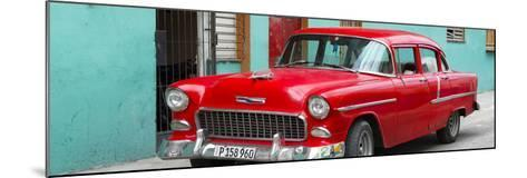 Cuba Fuerte Collection Panoramic - Beautiful Classic American Red Car-Philippe Hugonnard-Mounted Photographic Print