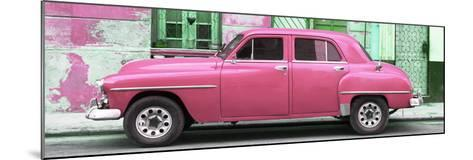 Cuba Fuerte Collection Panoramic - Pink Classic American Car-Philippe Hugonnard-Mounted Photographic Print