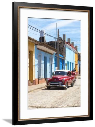 Cuba Fuerte Collection - Street Scene in Trinidad V-Philippe Hugonnard-Framed Art Print