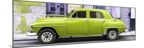 Cuba Fuerte Collection Panoramic - Lime Green Classic American Car-Philippe Hugonnard-Mounted Photographic Print