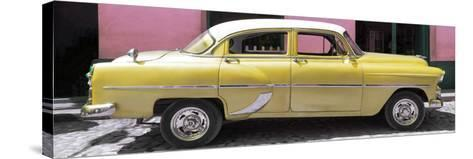 Cuba Fuerte Collection Panoramic - Retro Yellow Car-Philippe Hugonnard-Stretched Canvas Print