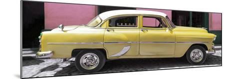 Cuba Fuerte Collection Panoramic - Retro Yellow Car-Philippe Hugonnard-Mounted Photographic Print