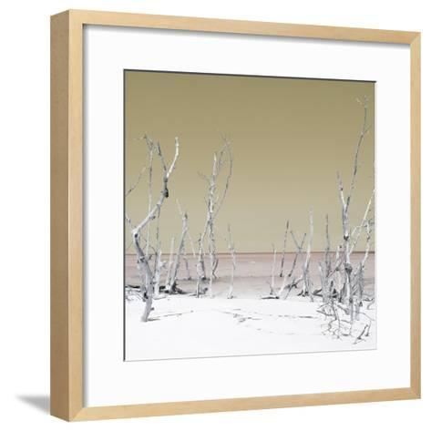 Cuba Fuerte Collection SQ - Wild Beach - Pastel Yellow-Philippe Hugonnard-Framed Art Print