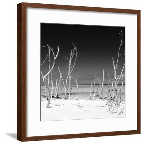 Cuba Fuerte Collection SQ BW - Wild Beach-Philippe Hugonnard-Framed Art Print