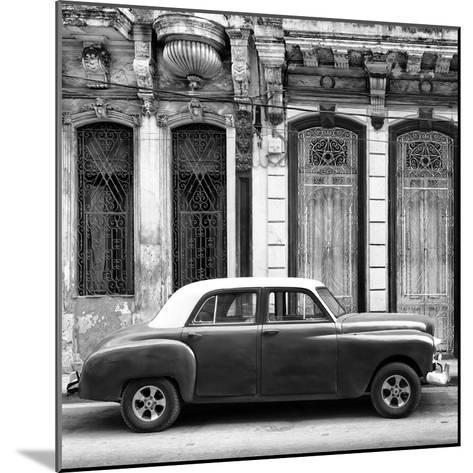 Cuba Fuerte Collection SQ BW - Vintage Car in Havana-Philippe Hugonnard-Mounted Photographic Print