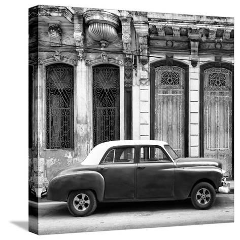 Cuba Fuerte Collection SQ BW - Vintage Car in Havana-Philippe Hugonnard-Stretched Canvas Print