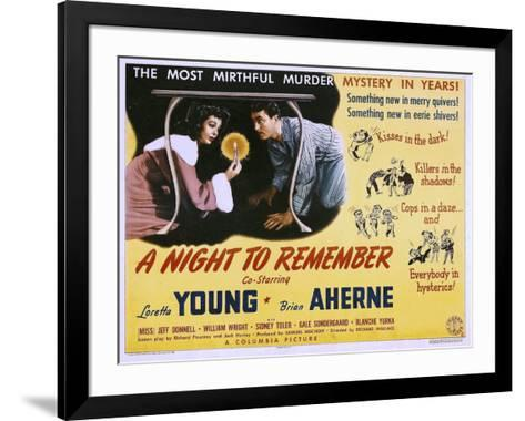 A Night to Remember, Loretta Young, Brian Aherne, 1942--Framed Art Print