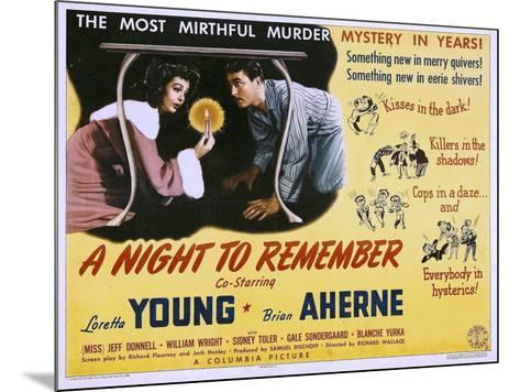 A Night to Remember, Loretta Young, Brian Aherne, 1942--Mounted Poster