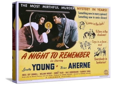 A Night to Remember, Loretta Young, Brian Aherne, 1942--Stretched Canvas Print