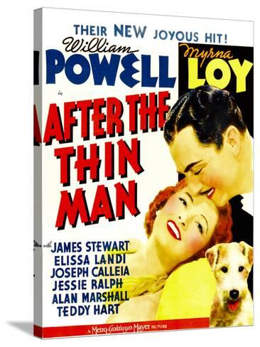 After the Thin Man, Myrna Loy, William Powell, Asta, 1936--Stretched Canvas Print