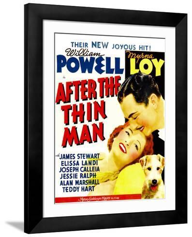 After the Thin Man, Myrna Loy, William Powell, Asta, 1936--Framed Art Print