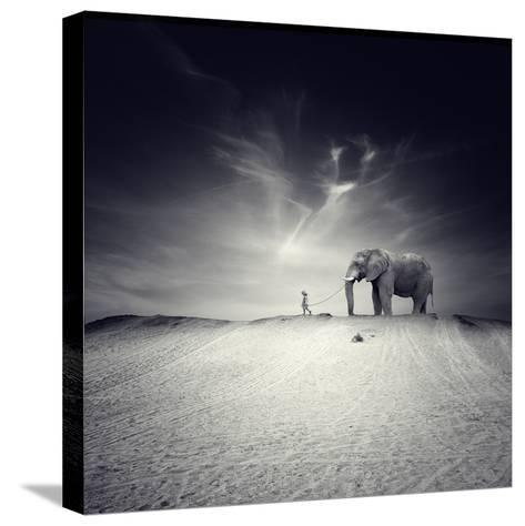 Walk with Me-Luis Beltran-Stretched Canvas Print