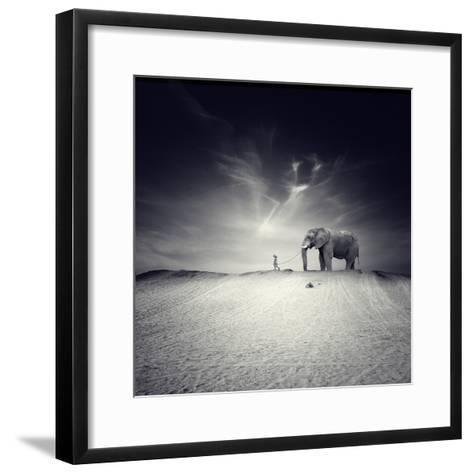 Walk with Me-Luis Beltran-Framed Art Print