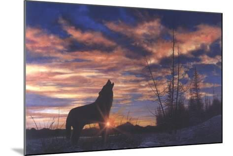 Sky Wolf-Bill Makinson-Mounted Giclee Print